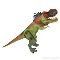 Wholesale Dinosaurs Puppets - New Super Simulation Dinosaur Hand Puppets Model 27 Inches Evade Glue Hand Puppets Dinosaur Props Children Interactive Toys Wholesale