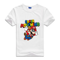 Wholesale clothes game - 2017 Summer T Shirts Cute Cartoon Super Mario Printed Fashion clothes children Brother Game Boys&Girls Tops&Tees Outwear Fashion T-shirts