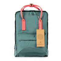 Wholesale Gold Lovers Cream - Wholesale- 2016 New Backpack School Bag Girls double shoulder Canvas Lovers Leisure Travel Bag Fox Backpacks M005