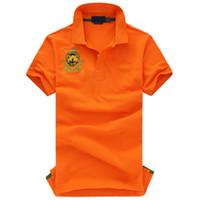Wholesale pour home - Free shipping crown horse new man polo pour homes tees polo aeronautica militare men fashion brand short collar polo shirts.