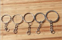 Wholesale Silver Open Jump Rings - 1000 pcs Wholesale Metal Split Keychain Ring Parts Key Chains With 25mm Open Jump Ring and Connector