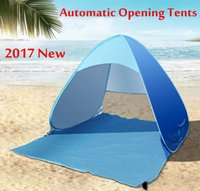 Wholesale Outdoor Canvas Camping Tents - DHL-Summer Tents Outdoor Camping Shelters for 2-3 People UV Protection Tent for Beach Travel Lawn 20 PCS   Lot Fast Shipping