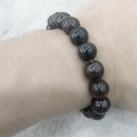 Wholesale Natural black garnet stone Beaded bracelet fashion lady style bracelet beaded strand made for gift gracious style bracelet