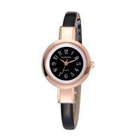 Wholesale Thin Leather Bracelet Watch - fashion thin style women leather bracelet watch small dial number 2017 new wholesale casual ladies dress quartz party watches