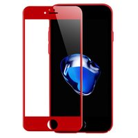 Wholesale Apple Product Wholesale - Product Red Special Edition 3D Full Cover Color Tempered Glass Screen Protector with Box Package For iPhone 7 7 Plus