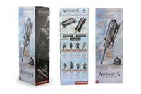 Wholesale Neca Assassins Creed Gauntlets - Free Shipping High Quality 1pcs NECA Assassins Creed Hidden Blade Brotherhood Ezio Auditore Gauntlet Replica Cosplay Christmas Gift free shi