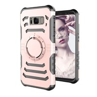 Wholesale earphones plastic cover - Samsung Galaxy S8 Armband & Armor Case Multifunctional Sports ArmBand Key Earphone Holder Magnetic Car Mount Shockproof Anti Slip Cover
