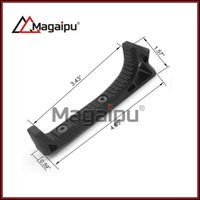 Wholesale Forward Shipping - Magaipu New Black Aluminum Tactical Keymod Angled Forward Grip Hand Stop 118 mm Foregrip Handstop for Keymod System Free Shipping