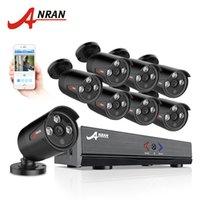 güvenlik kamerası dvr kitleri toptan satış-Anran 8ch güvenlik kamera sistemi ahd 1080n hdmi dvr 720 p 1800tvl ir açık kamera ev video gözetim kitleri e-posta uyarısı