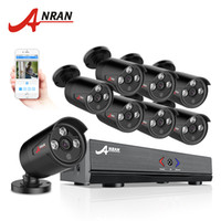 Wholesale home camera kit resale online - ANRAN CH Security Camera System AHD N HDMI DVR P TVL IR Outdoor Camera Home Video Surveillance Kits Email Alert