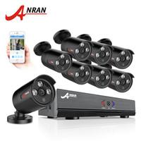 kit de caméra à domicile achat en gros de-Système de caméra de sécurité ANRAN 8CH AHD 1080N HDMI DVR 720P 1800TVL Caméra d'extérieur infrarouge Kits de vidéosurveillance domestique Alerte Email