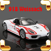 Wholesale Hot Wheels Diecast - Christmas Gift P918 Weissach 1 24 Model Metal Sports Racer Vehicle Alloy Collectible Diecast Toys Hot Wheels Simulation Scale Present