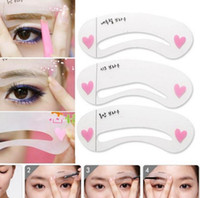 Wholesale styles set Grooming Stencil Kit Shaping DIY Beauty Eyebrow Template Make Up Tool