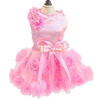 Wholesale Deals Doggy Pet Dog Clothes Party Summer Dress Rose Wedding Dress Dog Pet Puppy Clothing Dog Fashion Dress