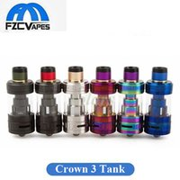 Wholesale Wholesale Metal Crowns - Original Uwell Crown 3 III Tank 5ml Top Refilling Flavor Tank 24.5mm Diameter 5 Colors Vape Atomizer 100% Authentic
