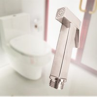 Wholesale Shower Set Chrome Bathroom - Bathroom Bidet Faucet Toilet Shower Set Portable Bidet Spray Toilet Attachment With ABS Chrome Shower Holder For Bathroom Accessories