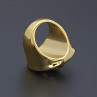 gold ringe 24k frauen großhandel-Hip Hop Medusa Ring Schmuck 24k vergoldet Kopf Fingerringe für Männer Frauen Größe 7,8,9,10,11,12