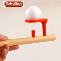 Wholesale Wooden Games Outdoor - Wholesale-Schylling Blow Toys Hobbies Outdoor Fun Sports Toy Ball Foam floating ball game children Wooden Education kids baby puzzle toy