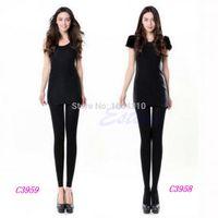 Wholesale Leg Shaping Stockings - Wholesale- U119 Beauty Leg Shape Compression Burn Fat Thin Pantyhose Stocking Women Slim