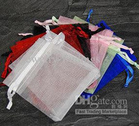 Wholesale Organza Bags 9cm - Promotion! mix Organza voile Favor Gift Sheer Craft Bags Assorted jewelry pouches 7 X 9cm