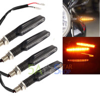 4x 12 LED universel Motocyclette Moteur Indicateur de signal de veille Amber Light 12V