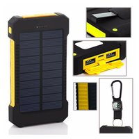 Wholesale Usb Battery Pack Iphone - 18650 External Batteries Pack ,Solar Charger Waterproof Phone External Battery Dual USB Power Bank For Iphone,SAMSUNG,MOBILE,TABLETS,Camera