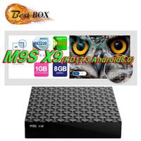 Wholesale Tv Box Multimedia Player - Stock M9S X9 Android 6.0 OTT TV BOX Rockchip RK3229 1G 8G H.265 Multimedia Player VS MXQ Pro A95X R1 Amlogic S905X S912