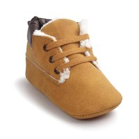 Wholesale High Top Soft Sole - Wholesale- ROMIRUS New Casual Winter Classic Baby Children Keep Warm First Walkers Shoes Crib Babe Sneakers Soft Soled High Top Boots