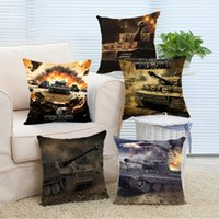 Wholesale pink pillow shams - Wholesale- Pillow Case Hot Sale World of Tanks Logo Game Gaming Custom Pillowcase Pillow Sham Throw Pillow Cushion Case Cover Twin Sides P