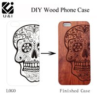 For iPhone 6 6S/7 / 6PLUS 6SPLUS/ 7PLUS black laser engravers - Blank Walnut Cherry Maple Wood Cell Phone Case for iPhone S S PLUS SPLUS PLUS Laser Engraver Custom DIY LOGO