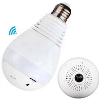 E27 lampada di lampadina Wireless IP Camera Wi-fi FishEye 960p Sistema di sicurezza domestico V380 da 360 gradi Mini Panorama Camera 1.3MP / 2.0MP Sistema di sicurezza domestica