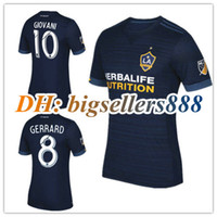 14b45576adf top Thai quality LA Galaxy 17 18 Home white Away blue soccer Jersey 2017  2018 GERRARD ZARDES GIOVANI KEANE football shirt