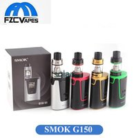 Wholesale E Cig Big Tank - Original SMOK G150 Starter Kit 150W 4200mAh Lipo Advanced Vaper Kit with TFV8 Big Baby Tank E Cigarette E CIG