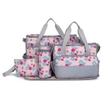 anneler için torbalar toptan satış-Toptan Satış - Toptan 5 Sıcak Çok Fonksiyonlu Fasion Nappy Annelik Bezi Anneler İçin Çiçek Çantalar Marka Bebek Çantaları Marka Bebek Çantaları