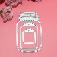 Wholesale Diy Wish Bottles - Wishing Bottle DIY Metal Cutting Dies Stencil Scrapbook Card Album Paper Embossing Craft