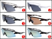 Wholesale Yellow Full Frame Spectacles - FAST FREE sports spectacles Bicycle Sunglass 6 colors big sunglasses for men sports cycling sunglasses fashion dazzle colour mirrors 2321