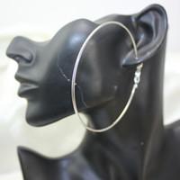 Wholesale Large Loop Earrings - Big Hoop Loop Earrings jewelry Large Circle Smooth Round Hook Hip Hop Clasp Clip simple drop Punk Dangle Charm Craft