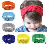 Wholesale Babies Headbands Wholesale China - Baby China DE facto headband Baby compiling pattern head hair accessories