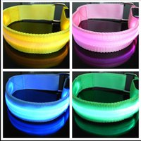 Novo LED de segurança Reflective Light Shine Flash Bracelete de incandescência Braço Braço Bracelete Braceletes de mão Braceletes Wristband Wrist Band For Sports Night Cycling