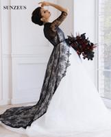 Vestido de boda blanco y negro