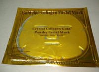 Wholesale Wholesale Gel Face Mask - New Gold Powder Collagen Albumen Crystal facial Mask Girl Woman Skin Care Gel face mask masks Facial Peels Free DHL