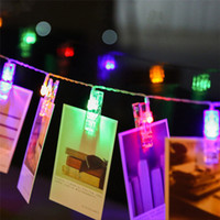 Wholesale Christmas Holiday Photo - Mini LED DIY Photo Clip String Lights battery Operated Christmas lights new year party wedding home decoration 1.2M 2.2M 4.2M fairy lights