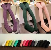 Wholesale Chinese Outfits Children - New Fashion Knitting Girls Footies leggings Autumn Winter Outfit Girls Render Pants Children Clothing Kids Female Leggings Warm Wear B880