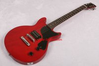 Wholesale Electric Guitars Double Cutaway - 2017 new Guitar Red junior Double cutaway Electric Guitar In Stock Free Shipping