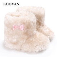 Wholesale Leather Loafers Toddlers - Baby First Walker Koovan Baby Indoor Shoe 2017 Children's Girls Warm Shoe Soft Board Loafers Short Plush Toddler Shoes For 0-1 years W363