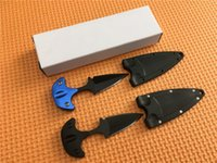 Wholesale Full Safe - Promotion! Cold steel Cold Steel Safe Maker Push Dagger Knife Mini Fixed blade knife Full tang 440 stainless steel knife knives with sheath