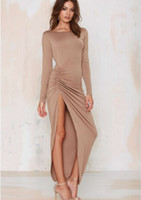 Wholesale design party gowns for sale - Group buy Evening Gown Women Party Christmas Dress Sexy Long Backless Hip Up Split Design Ball Gown