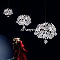 yatak odası için modern lambalar toptan satış-Ücretsiz kargo modern restoran kristal lambaları yatak odası avize girişinde Kristal avize