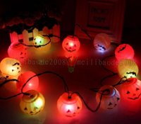 Wholesale Haunted Bar Decorations - Halloween LED Strings 12 Pumpkin String Light Fairy Lights Festival Lamp Halloween Props Haunted House Supplies Bar Decoration MYY