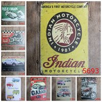 Wholesale Cooper Antique - Classical Motorcycle Car 20*30cm Iron Painting Full Service Garage Tin Posters Mini Coopers Metal Tin Sign For Bar Decorate 4rjaa